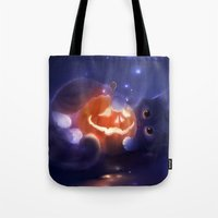 pumpkin Tote Bags featuring Pumpkin by apofiss