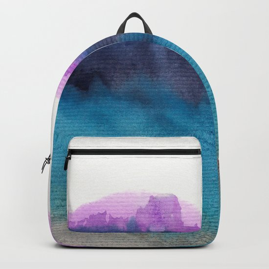 Watercolor abstract landscape 13 Backpack