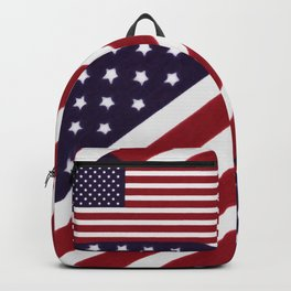 USA flag - Painterly impressionism Backpack