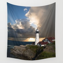 Lighthouse of New England Wall Tapestry