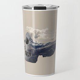 Mountain Skull Face Travel Mug