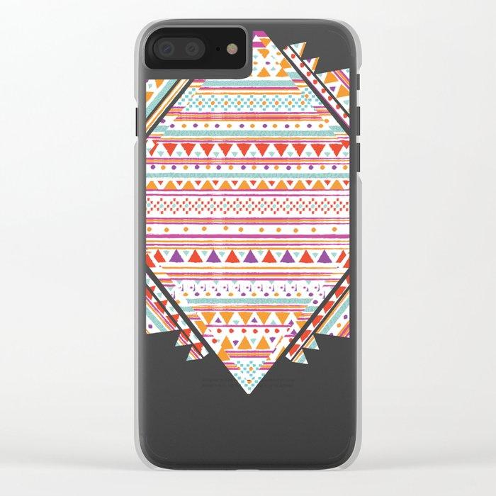 NATIVE BANDANA Clear iPhone Case