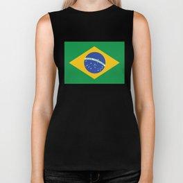 Brazilian Flag Biker Tank