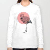 flamingo Long Sleeve T-shirts featuring flamingo by morgan kendall