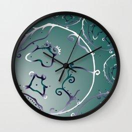 Deep sea cells Wall Clock
