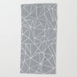 Abstraction Outline Grey Beach Towel