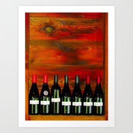 Woodgrain & Vino Art Print