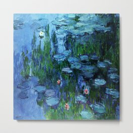 Claude Monet Water Lilies / Nymphéas deep Metal Print