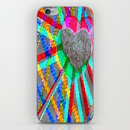 Multi Heart Rays 1 iPhone Skin