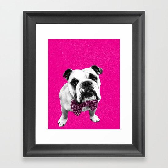 Pink Bowser Framed Art Print