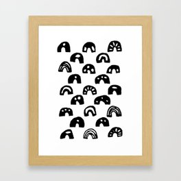 Binary Bumps Framed Art Print