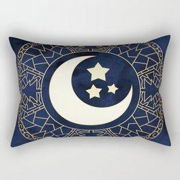 MANDALA MOON AND STARS Rectangular Pillow