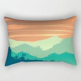 Mt Cheaha Sunset Rectangular Pillow