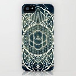 Ultra Sacred Geometry Dark iPhone Case
