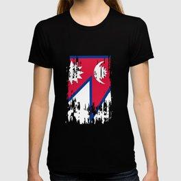 NP NPL Nepal Flag T-shirt