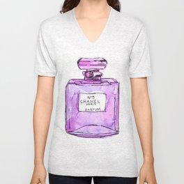 perfume purple Unisex V-Neck