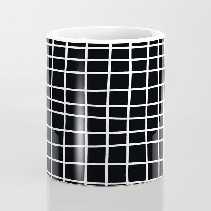 Handdawn Grid Black Coffee Mug