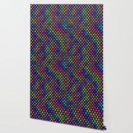 Rainbow Polka Dot Pattern Wallpaper