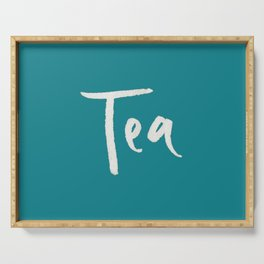 Teal Tea Serving Tray