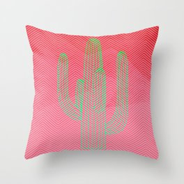 Deserted cactus - chevron pink Throw Pillow