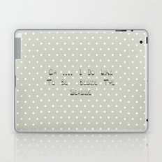 Oh .... i do like to be beside the seaside ~ polka dot ~ poster ~ typography ~ illistration Laptop & iPad Skin