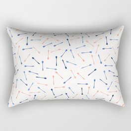 Spoons Silhouettes Vector Cutlery Rectangular Pillow