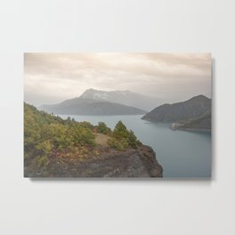 Lakeview at sundown Metal Print