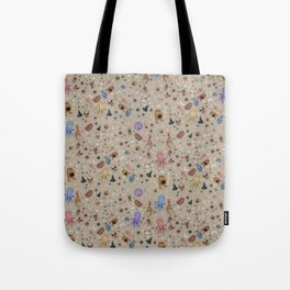 Dreams & Nightmares (on Khaki Beige Background)  Tote Bag