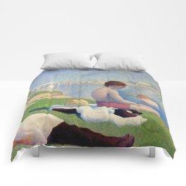 "Georges Seurat ""Bathers at Asnières"" Comforters"
