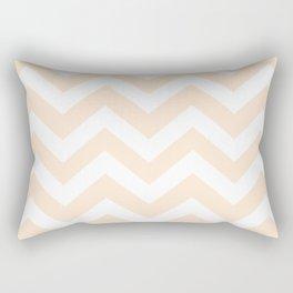 Flesh - pink color - Zigzag Chevron Pattern Rectangular Pillow