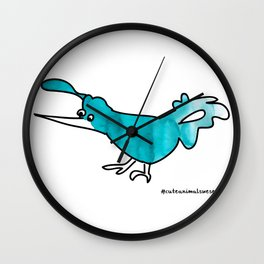#6animalwesee Wall Clock