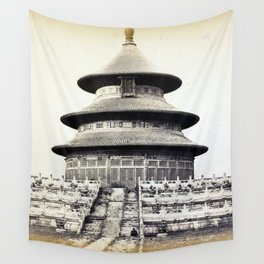 Sacred Temple of Heaven Where the Emperor Sacrifices Once a Year in the Chinese City of Pekin 1860 Wall Tapestry