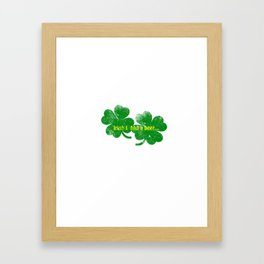Irish I had a beer Framed Art Print