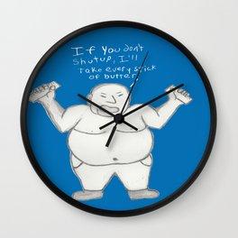Blue Butter Wall Clock