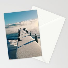 Snowy Pier Stationery Cards