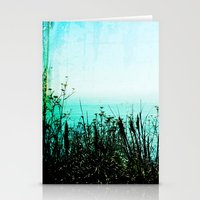 big sur Stationery Cards featuring Big Sur by Mermaid's Coin Surf Art * by Hannah Kata