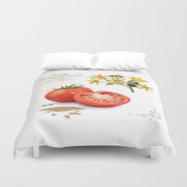 Tomato and Pollinators Duvet Cover