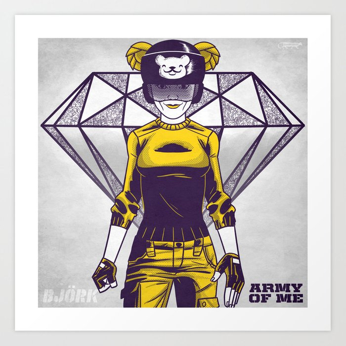 7 inch series: Björk - Army of me Art Print