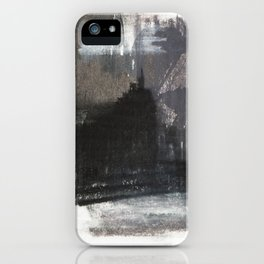 Abstract Texture, Black White & Grey Texture 1 iPhone Case