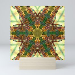 Rusty Bedford Truck Kaleidoscope Mini Art Print