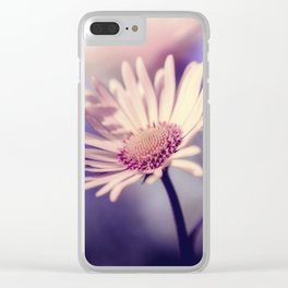 Yellow Daisy Flower Clear iPhone Case