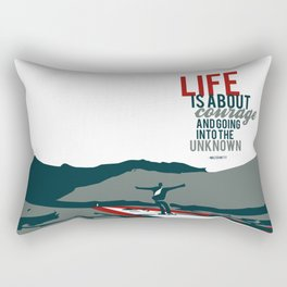 life is about courage.. the secret life of walter mitty Rectangular Pillow