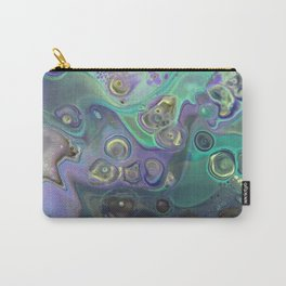 Fluid Nature - Lilac Mint Cocktail - Abstract Acrylic Pour Art Carry-All Pouch