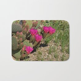 Beavertail Cactus in Bloom Bath Mat