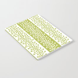 Mid Century Modern Berry Vine Stripes Chartreuse Notebook
