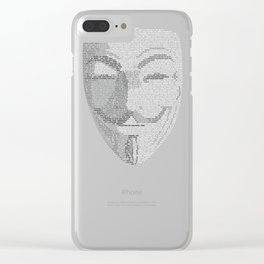 ...You May Call Me 'V' – So who's Anonymous? Clear iPhone Case