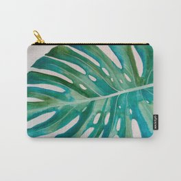 Monstera Leaf Watercolor Carry-All Pouch