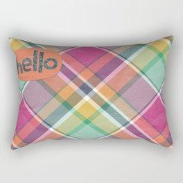 Hello in Orange Rectangular Pillow