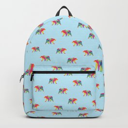 Fractal Bear - neon colorways Backpack