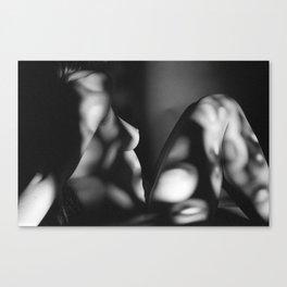 Black & White Nude Profile Canvas Print